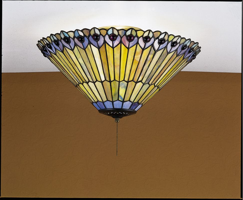 Tiffany Ceiling Light With Pull Chain : Meyda tiffany glass stained