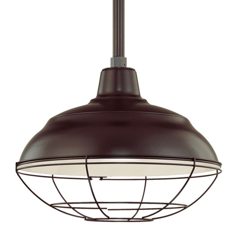 Outdoor Warehouse Light: Millennium Lighting Architectural Bronze R Series 1 Light