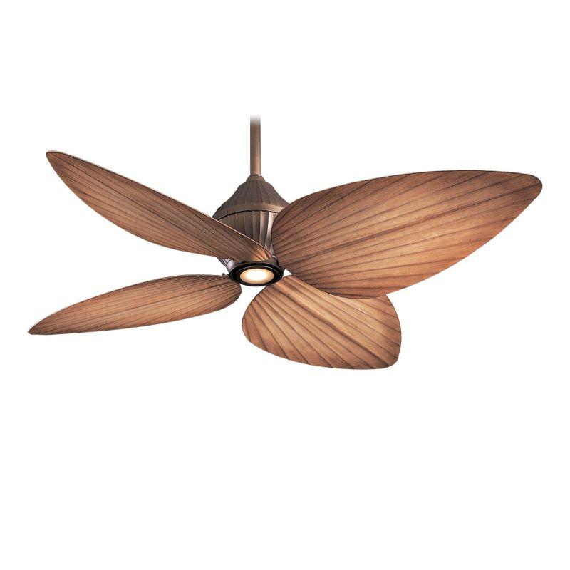 """52 Gauguin Tropical 4 Blade Indoor Outdoor Ceiling Fan: MinkaAire F581-ORB Oil Rubbed Bronze 4 Blade 52"""" Indoor"""