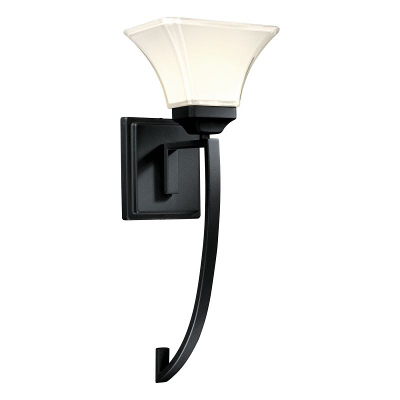 Mink Glass Wall Lights : Minka Lavery 6810-66 Black 1 Light Wallchiere Wall Sconce from the Agilis Collection ...