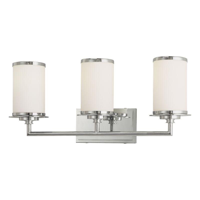 Bathroom Vanity Lights Facing Up : Minka Lavery 3723-77-PL Chrome 3 Light 23