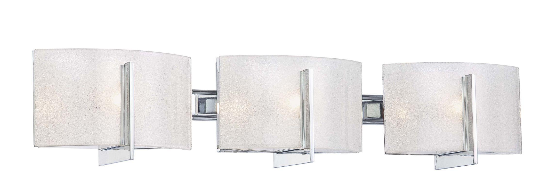 Hampton Bay Dakota Collection 3 Light Bathroom Vanity: Minka Lavery 6393-77 Chrome 3 Light Bathroom Vanity Light