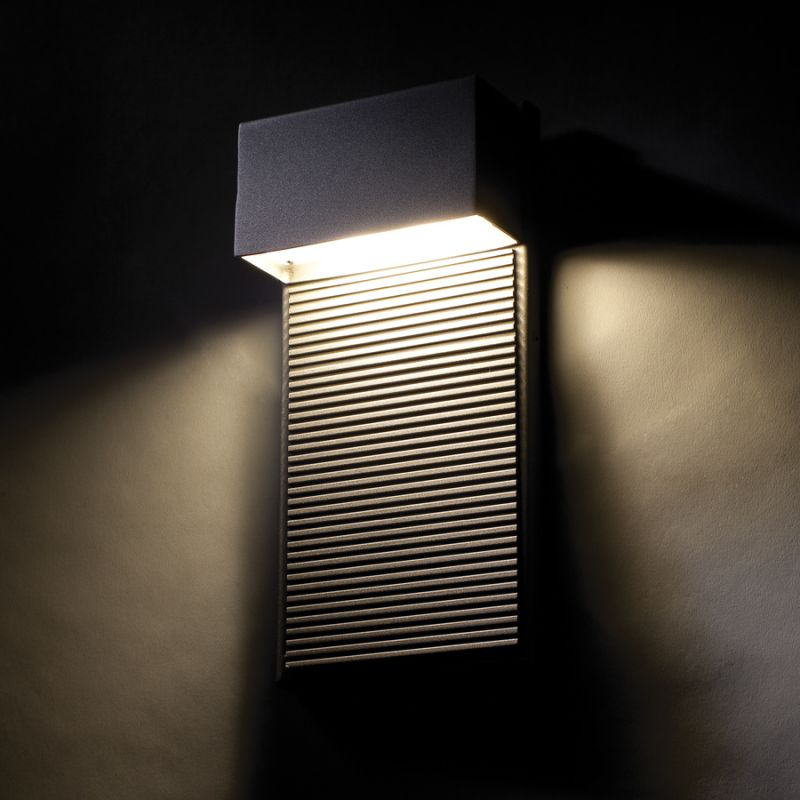 """Outdoor Lighting Dimmer: Modern Forms WS-W2308-BK Black Hiline 8"""" Indoor / Outdoor"""