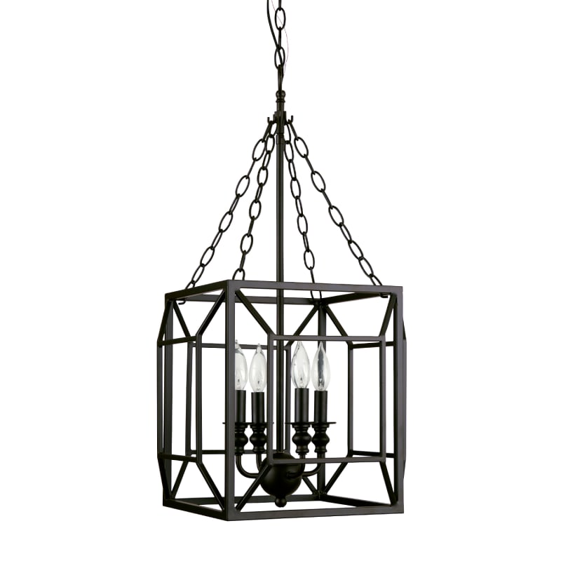 Park Harbor Phplorb Oil Rubbed Bronze  Light Single Tier Candle Style Chandelier