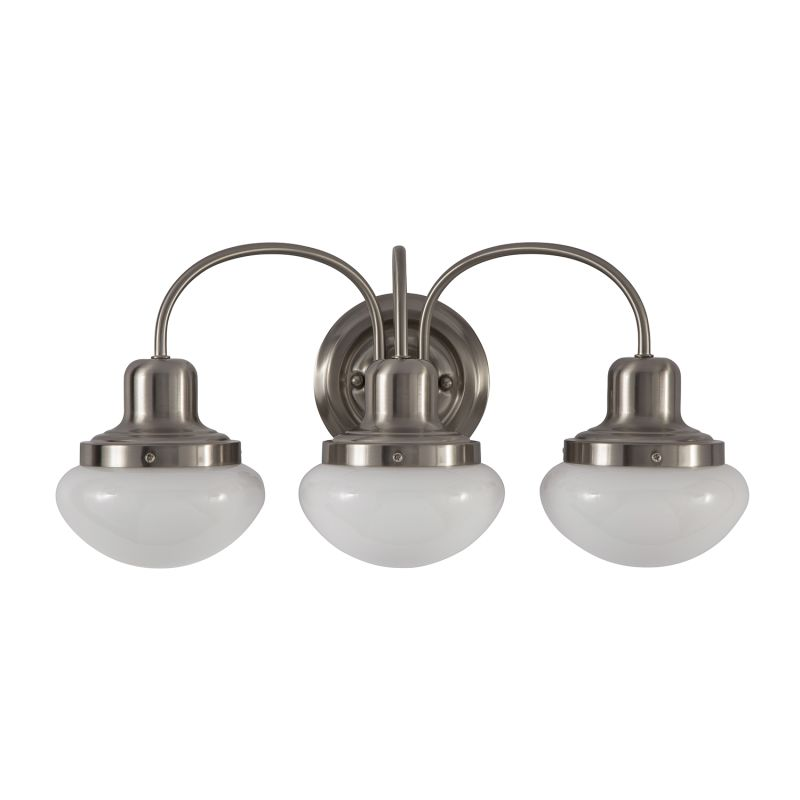 Park Harbor Phvl2053bn Brushed Nickel Pamplin 20 Wide 3 Light Bathroom Fixture