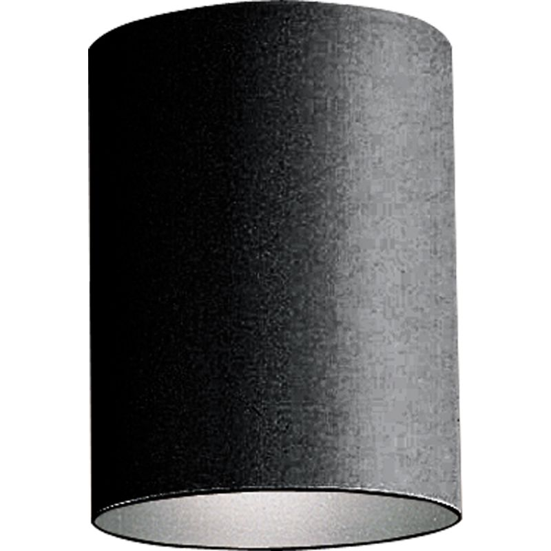 Progress Lighting P5774 31 Black Cylinder 1 Light Flush Mount Outdoor Ceiling