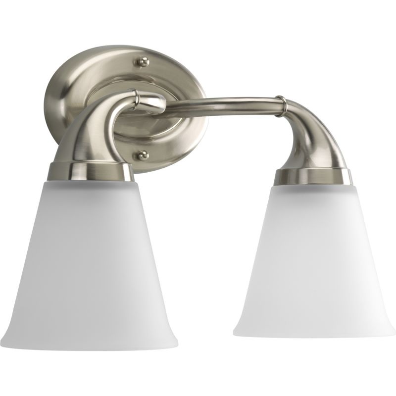 Progress Lighting P2759 09 Brushed Nickel Lahara 2 Light Bathroom Vanity Ligh
