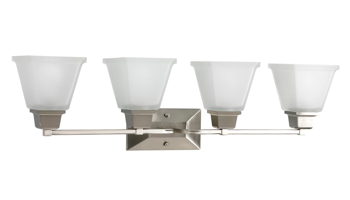 Progress Lighting Rizu Collection 3 Light Brushed Nickel: Progress Lighting P2745-09 Brushed Nickel North Park 4