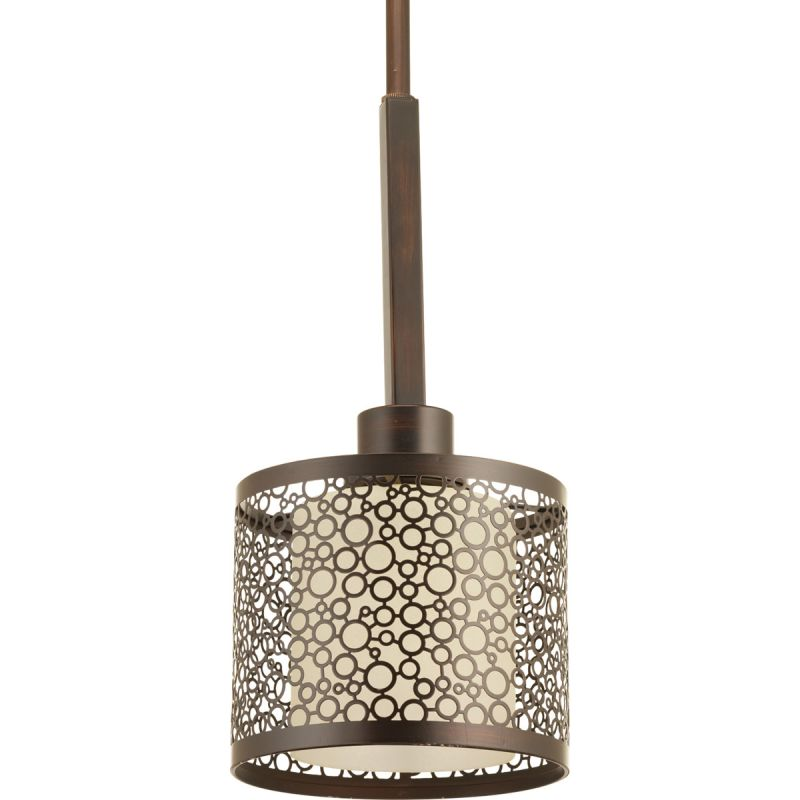 Progress Lighting P5038 20 Antique Bronze Mingle Mini Pendant With 1 Light