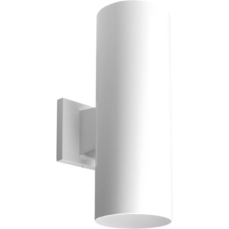 Progress Lighting P5675 30 30K White Cylinder 2 Light LED Outdoor Wall Sconce