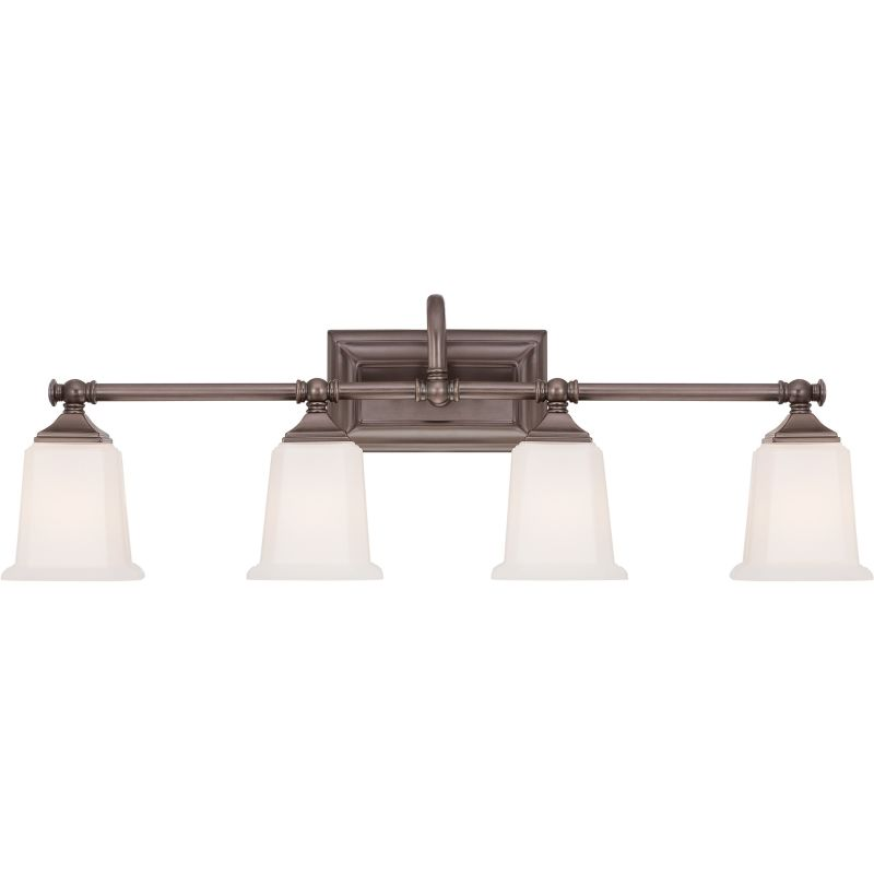 Quoizel Nl8604ho Harbor Bronze Nicholas 4 Light 31 Wide Reversible Bathroom Vanity Light With