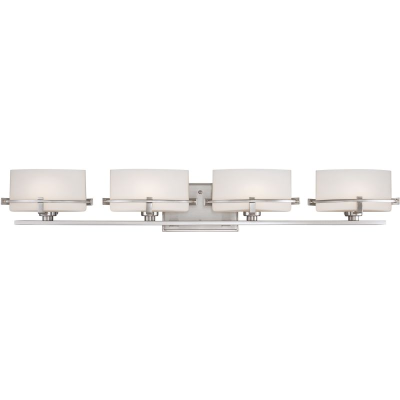 Quoizel Bathroom Vanity Lights : Quoizel NN8604BN Brushed Nickel Nolan 4 Light 36