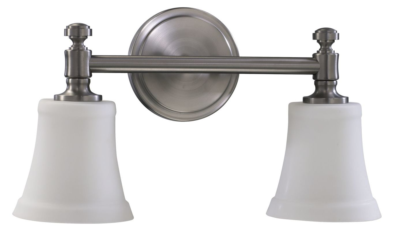 Satin Nickel Ceiling Lights Bathroom Vanity Chandelier: Quorum International 5122-2-65 Satin Nickel 2 Light Down