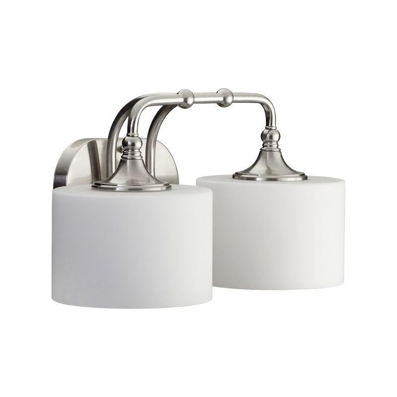 Vanity Lighting Facing Up Or Down : Quorum International 5090-2-65 Satin Nickel 2 Light Down Lighting Vanity Fixture from the ...