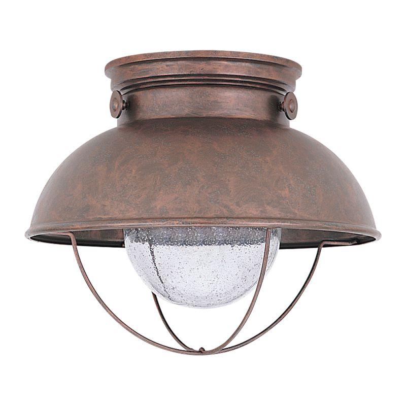 Sea Gull Lighting 886991s 12 Black Sebring Outdoor Led Flush Mount Ceiling Fixture