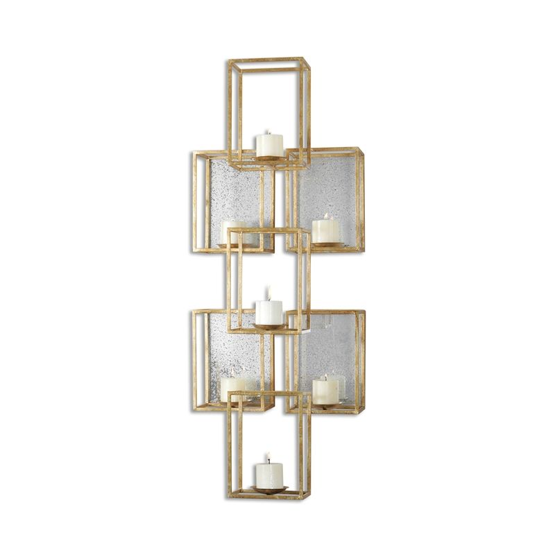 Uttermost 07693 Metal Ronana Wall Mounted Candle Holder