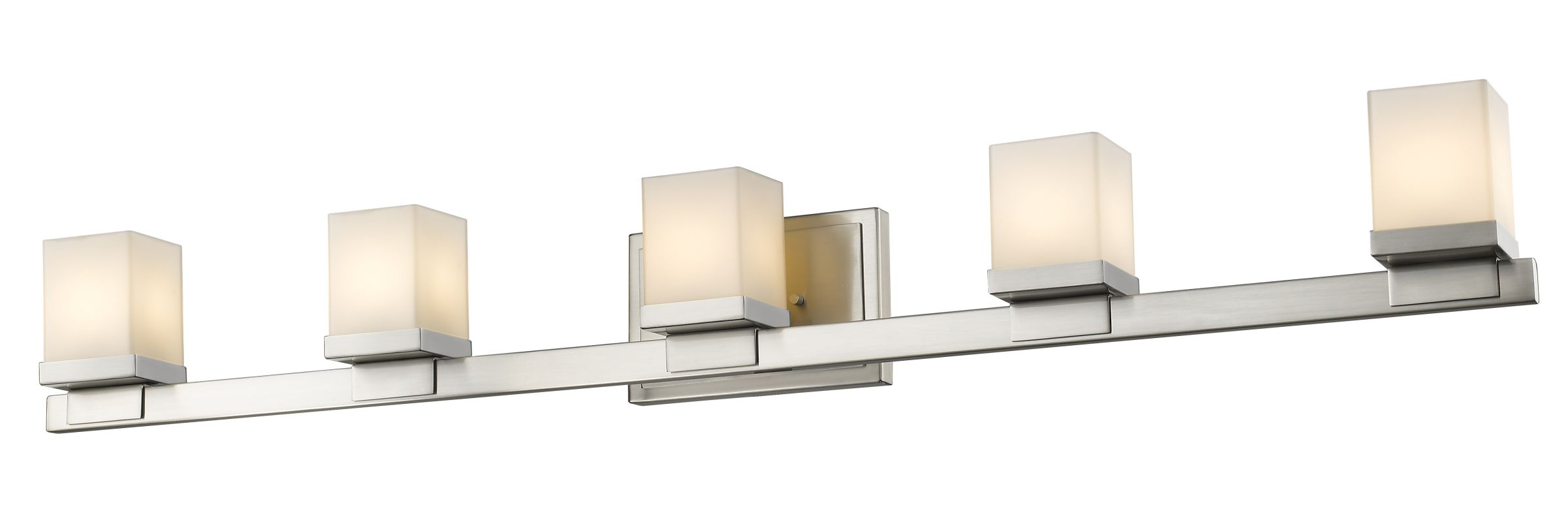 nickel cadiz 5 light bathroom vanity fixture. Black Bedroom Furniture Sets. Home Design Ideas