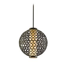 Three Light 23 Inch Hanging Ball Fixture From The Bangle Collection