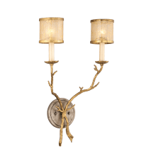 Two Light Wall Sconce from the Parc Royale Collection