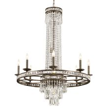 "Mercer 11 Light 36"" Wide Wrought Iron Candle Style Chandelier with Clear Hand Cut Crystal"