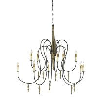 Rouleau 10 Light Chandelier Large