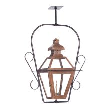 Bayou 30 Inch Tall Outdoor Ceiling Mounted Natural Gas Lantern