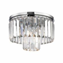 1 Light Flush Mount Ceiling Fixture with Crystal Shades from the Palacial Collection