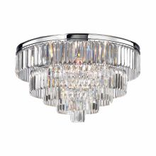 6 Light Flush Mount Ceiling Fixture with Crystal Shades from the Palacial Collection