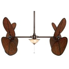 "Palisade 52"" 8 Blade Dual Ceiling Fan - Antique Blades, Light Kit, and Wall Control Included"