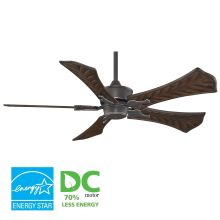 "Islander 52"" 5 Blade DC Ceiling Fan - Walnut Blades and Remote Control Included"