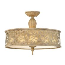 3 Light Semi-Flush Ceiling Fixture from the Carabel Collection