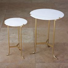 Global Views Brass Plie End Table