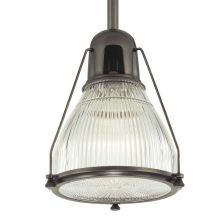 Single Light Down Lighting Full Sized Pendant with Round Glass Shade from the Haverhill Collection