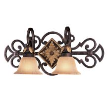 "2 Light 23.75"" Width Bathroom Vanity Light from the Zaragoza Collection"