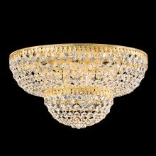 "18"" Wide 9 Light Flush Mount Ceiling Fixture From The Petit Crystal Collection"
