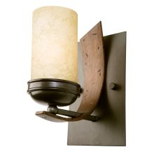 One Light Bathroom Wall Sconce Made From Recycled Steel from the Aizen Collection