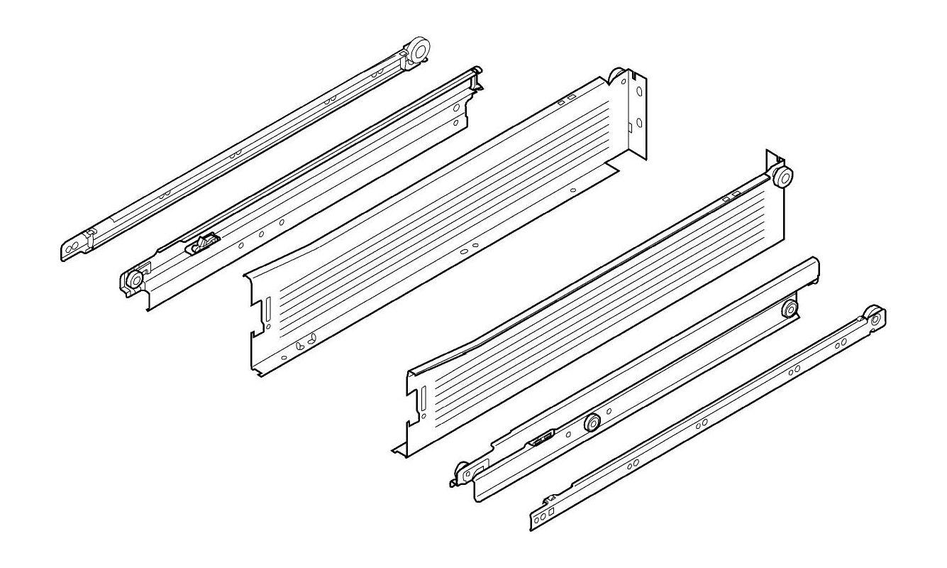 Blum 330m400pc15 W White Metabox 16 Inch Full Extension
