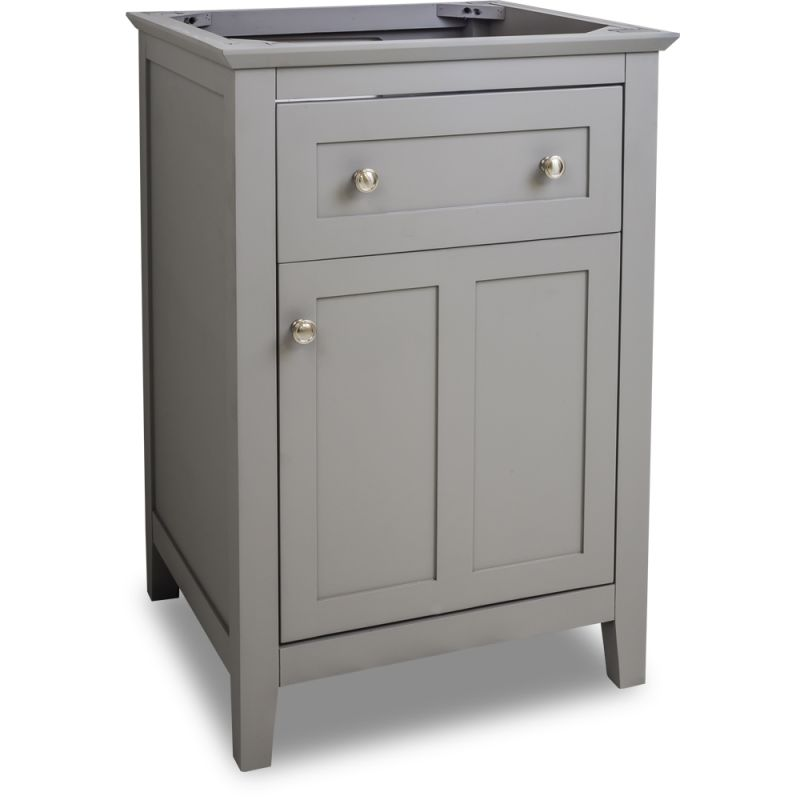 Jeffrey Alexander Van102 24 Grey Chatham Shaker Collection 24 Inch Wide Bathroom Vanity Cabinet