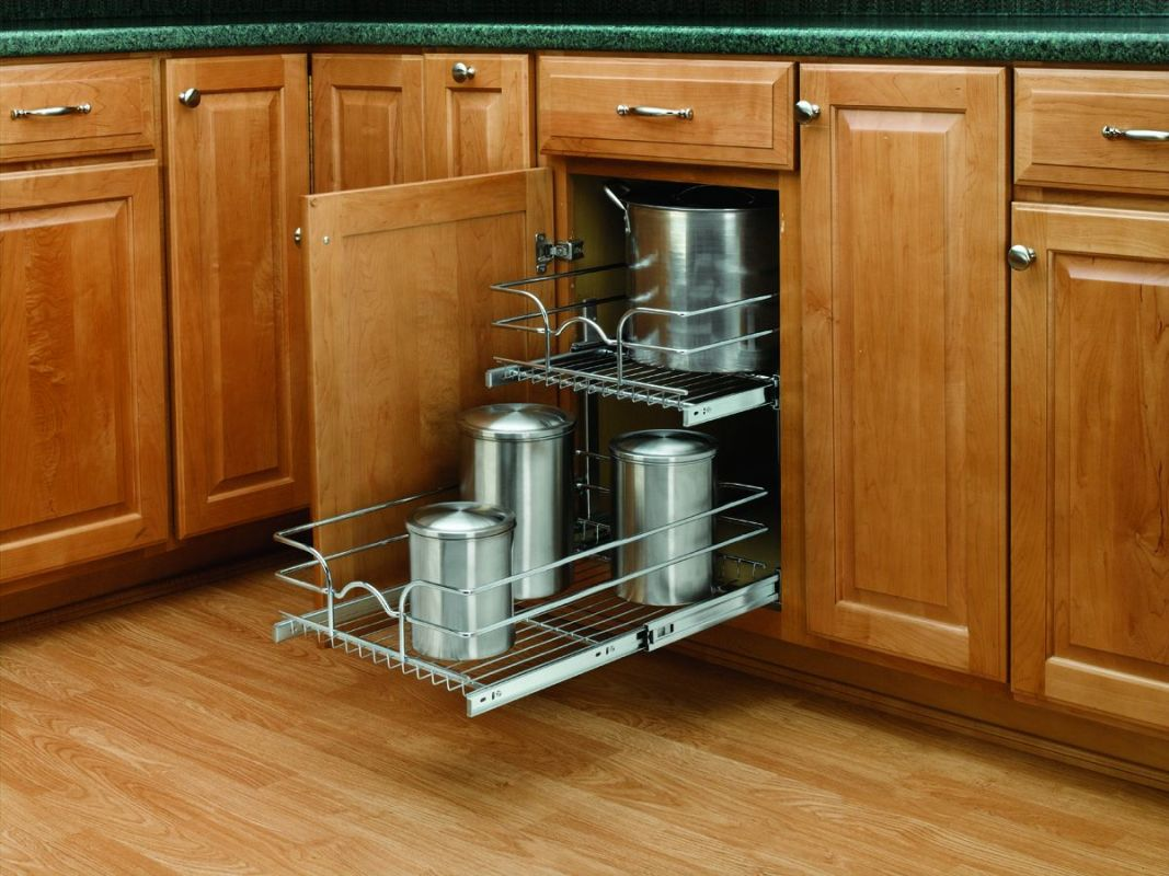 Rev a shelf 5wb2 1522 cr chrome 5wb series 15 inch wide by for 22 deep kitchen cabinets