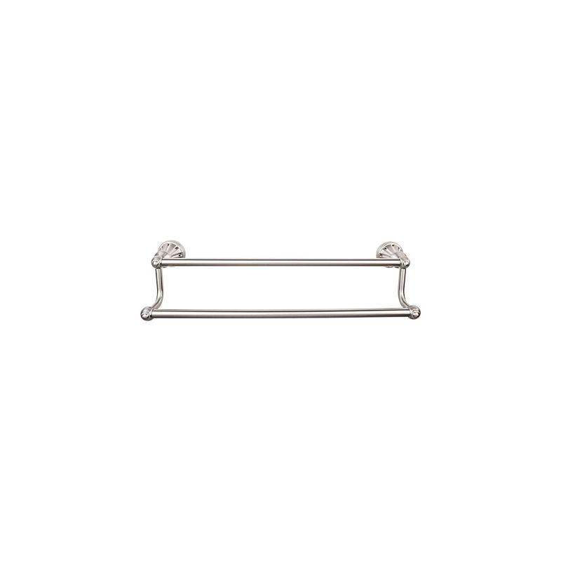top knobs hud7bsn brushed satin nickel hudson bath 18 inch double towel bar. Black Bedroom Furniture Sets. Home Design Ideas