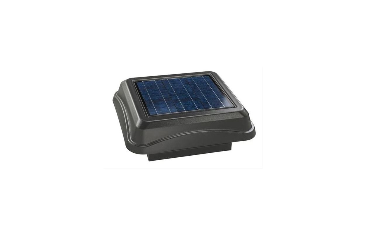 Broan 345csobk Black Solar Powered Attic Ventilator Curb Mount