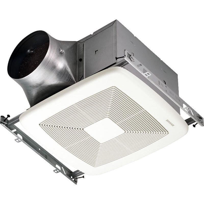 Broan Xb110 White 110 Cfm 0 3 Sone Ceiling Mounted Energy Star Rated And Hvi Certified Bath Fan