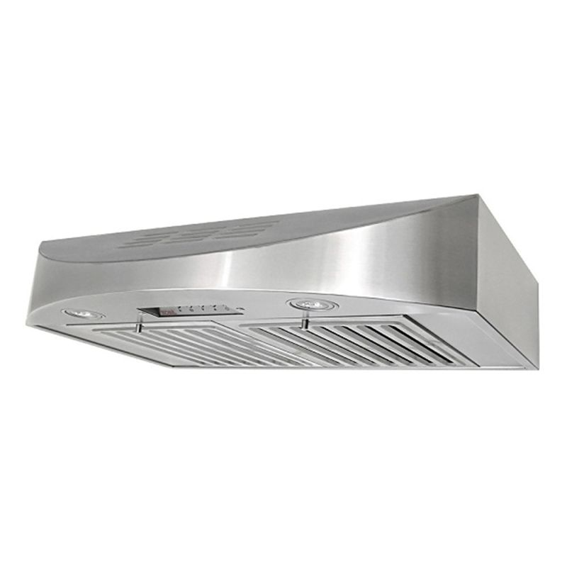 KOBE CH3830SQBD 2 Stainless Steel 420 CFM 30 Inch Wide Stainless Steel Ductle