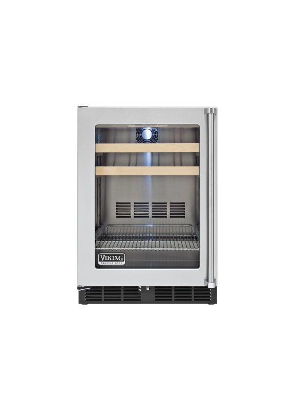 Viking VBCI5240GLSS Stainless Steel 24 Inch Wide 5 3 Cu Ft Undercounter Ref