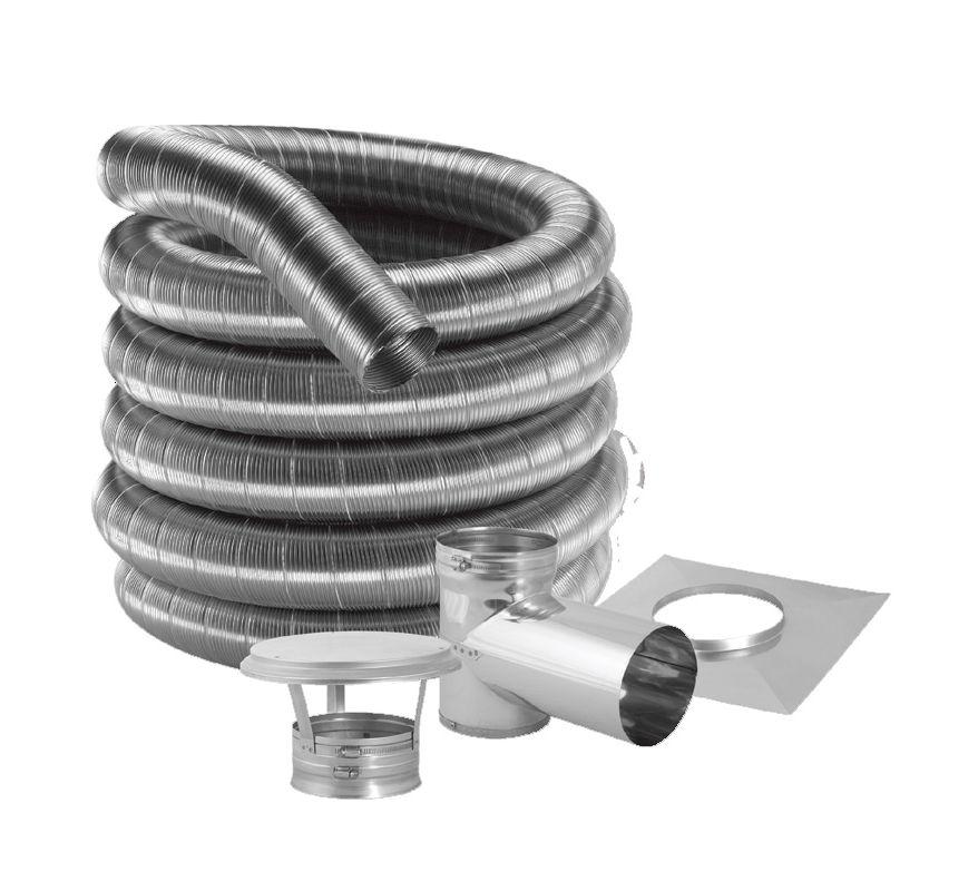 Duravent 4df304 20kt stainless steel 4 inner diameter for Liner diametre 4 50