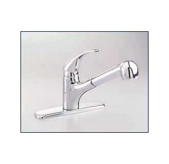 American Standard Undefined White Chrome Reliant Plus Pullout Kitchen Faucet