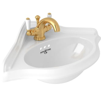 Includes Both Porcelain Polished Chrome includes U.2925 and U.3635L Rohl U.KIT29252L-APC-2 Kit Perrin /& Rowe Edwardian Corner Basin and Faucet Kit with Lever Handles