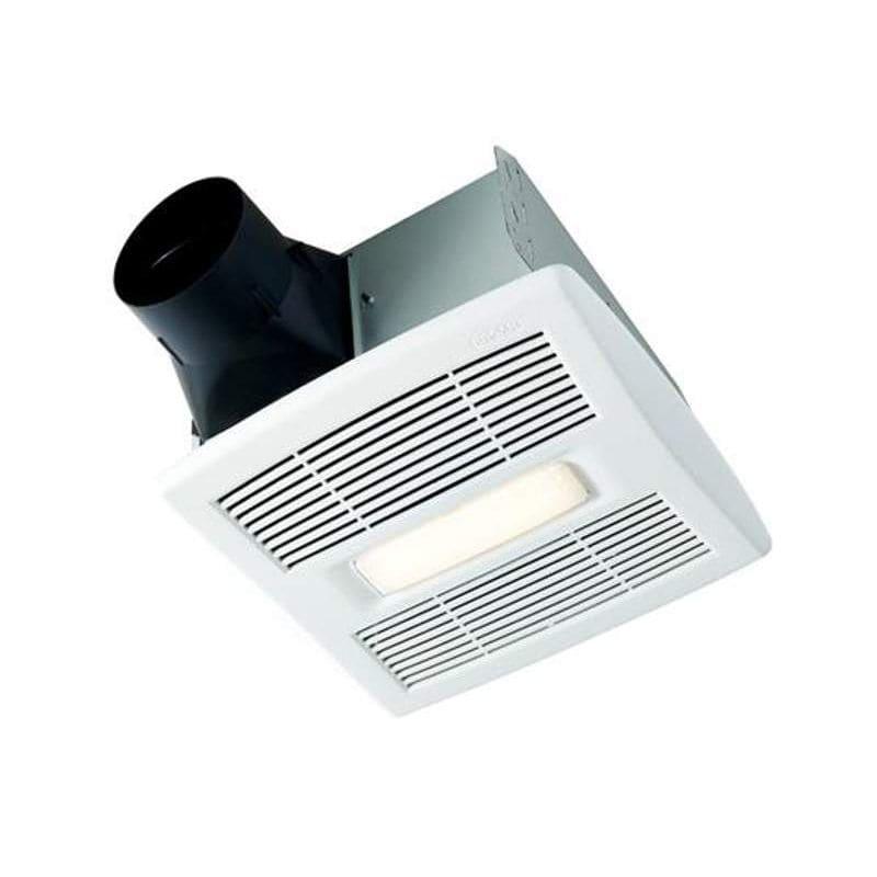 Shop Broan 3 5 Sone 70 Cfm Satin Nickel Bathroom Fan With: Broan 744 White Bathroom Fan