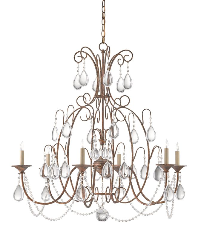 Currey And Company Coral Chandelier: Currey And Company 9218 White Coral/Natural Sand