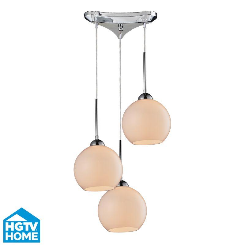 Hgtv Home Cassandra Blown Glass Mini Pendant Modern: Elk Lighting 10076/3 10076-3 Pendant Light